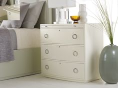 Transitions Bowfront Bedside | Somerset Bay #somersetbay #interiors #homedecor #design #interiorhomescapes #interiorhomescapes.com