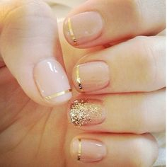 nude with gold