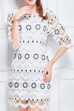Short Lace Dress, Short Sleeve Dresses, Lace Dresses, Floral Dresses, Casual Dresses, White Lace, White Dress, Pinterest Fashion, Fashion 101