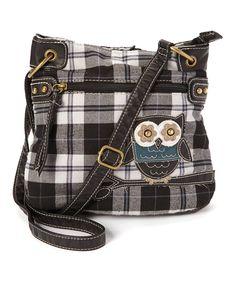 Look at this #zulilyfind! Chateau Designs Black & White Owl Crossbody Bag by  #zulilyfinds