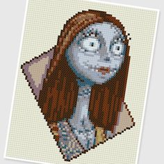 PDF Cross Stitch pattern  0255.Sally  Nightmare Before by PIXcross