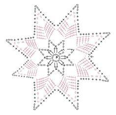 Рождественская звезда и снежинки из пряжи (9) (654x651, 168Kb)