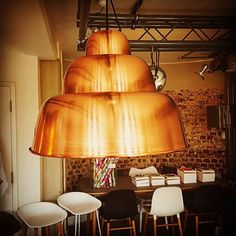 Levels Lamp in copper by Form Us With Love for Hem. New display light at The Lollipop Shoppe. #tlshoppe #hemdesign #hem #formuswithlove #interiors #interiordesign #designstore #design #swedishdesign #brighton #copper #beautiful #longlastingdesign #timeless