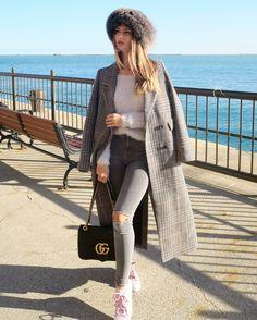 Coat, grey, fur, Russian look, Gucci