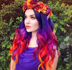 Purple plus red ombre hair idea is great for this fall, try vpfashion - Hair Beauty 2015 Hairstyles, Pretty Hairstyles, Hairstyle Ideas, Haircuts, Crazy Hairstyles, Messy Hairstyles, Red Ombre Hair, Ombre Burgundy, Burgundy Colour