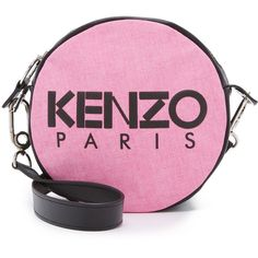KENZO Speedy Circle Bag (6.857.820 VND) ❤ liked on Polyvore featuring bags, handbags, shoulder bags, fuchsia, pink leather handbag, shoulder handbags, pink handbags, purse shoulder bag and leather handbags