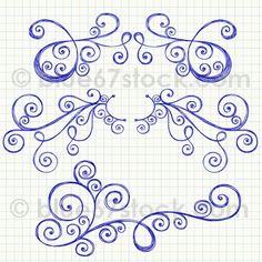 Мобильный LiveInternet Шаблоны для рисования узоров. Doodling | ZaXaRiKa - Мастерская чудес |