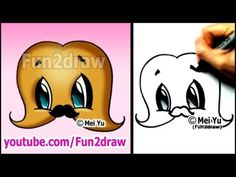 MUSTACHE with a MUSTACHE! - cute cartoon drawing (Art Lesson)