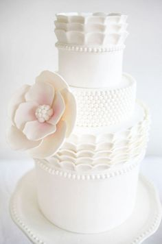 White cake with soft