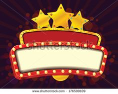 Stock Images similar to ID 208076863 - retro showtime sign. theatre...
