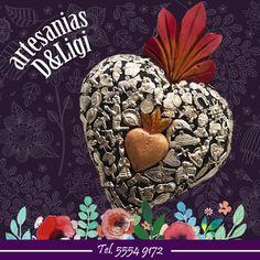 Corazón de los milagros.  #artesanía #flor #color #hogar #decoración #corazón