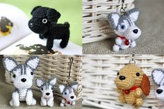 Directions for making small stuffed crocheted animals.