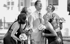 Great photo idea for the bridesmaids with the groom