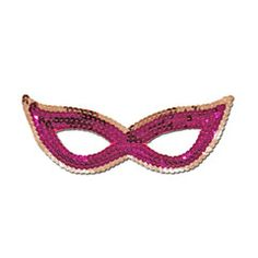 Purple And Silver Sequined Masquerade Mask With Cat Eyes | Simply Party Supplies
