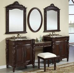 Pictures In Gallery  Double Sink Bathroom Vanities Design Ideas with Images
