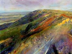 """Sussex Weald III - Acrylic on canvas (120 x 100cm) by Lorna Holdcroft Found her gallery here: http://www.lornaholdcroft.co.uk/gallery"