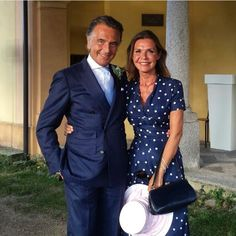 Mr. Giampaolo Alliata and his wife at their daughter's wedding.