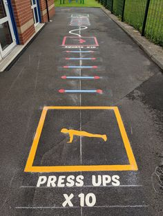 Our range of play trail playground markings are designed to help children develop a range of fitness skills, while incorporating interesting challenges. Pe Activities, Gross Motor Activities, Outdoor Activities For Kids, Outdoor Learning, Kids Learning, Recess Games, Fun Games, Playground Games, Playground Painting