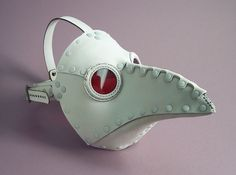 ɛïɜ Krankheit Riveted Plague Doctor Mask in White ~ Tom Banwell Designs *** Leather Masks Steampunk ~ Etsy Shop ɛïɜ Plague Mask, Plague Doctor Mask, Plauge Doctor, White Toms, Doctor Costume, Cool Masks, Leather Mask, Masks Art, Creepy Cute