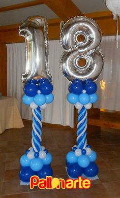 18 balloons number decor palloncini mylar