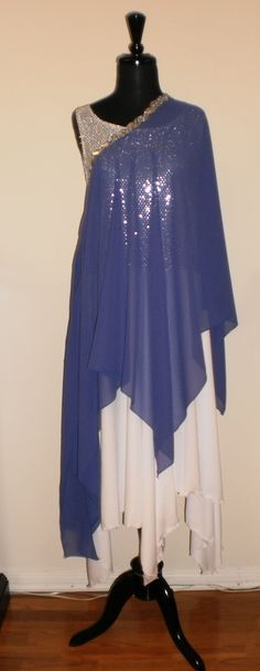 NWT Reversible Spandex Pointed Hem Praise dress Multi-wear 2 Color Tunic Top B//W