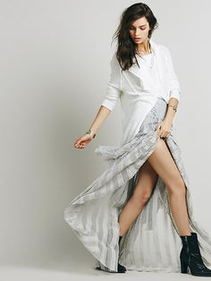 free people. fp one. tiered lace maxi. #fashion