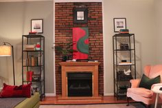 Peek Home Styling - Lemp Ave. living room bookcases