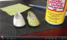 How To Make Custom Fabric Covered Flats for Dolls | Liberty Jane Doll Clothes Patterns For American Girl Dolls