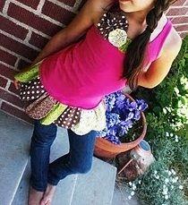 Tutorial: Scrappy petal tank tunic for tween girls · Sewing | CraftGossip.com