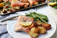 Sheet Pan Lemon Garlic Salmon and Veggies: A Hands Free Healthy Dinner - Whole Kitchen Sink