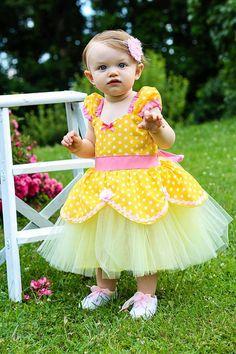 BELLE dress Princess costume TUTU dress from Lover Dovers handmade girls Halloween Belle costume