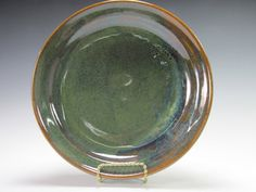 Handmade stoneware dinner plate by PottersGrove on Etsy