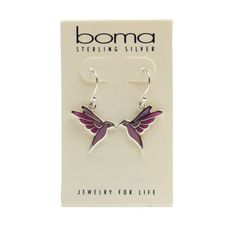 Bird watchers won't want to miss these glorious Boma sterling silver hummingbird earrings!