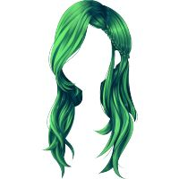 Peruka Silent Mermaid zielona