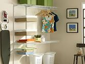 The functionality of this will be perfect for my laundry palace! Furniture, Home Organization, Room, Shelves, Laundry Mud Room, Home, Laundry Room Organization, Step Stool, Rubbermaid