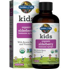 Best Vitamins For Kids, Kids Health, Organic Recipes, Organic Gardening, Syrup, Natural Health, Sugar Free, Berry, Children