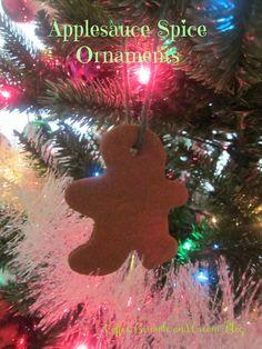 Coffee, Caramel & Cream: Applesauce Spice Christmas Ornaments