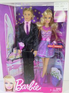 NIB BARBIE DOLL 2011 ONLY AT KOHLS DATE NIGHT WITH BARBIE AND KEN