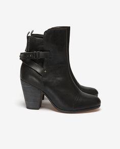 rag & bone Kinsey Leather Ankle Boot: Black