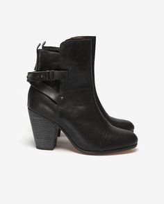 rag & bone Kinsey Leather Ankle Boot: Black