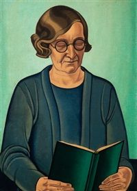 View Portrait of the Artist's Mother By Rita Angus; oil on canvas; Access more artwork lots and estimated & realized auction prices on MutualArt. Tamara Lempicka, Elaine De Kooning, Francoise Gilot, Contemporary History, New Zealand Art, Nz Art, Socialist Realism, Artists And Models, Reading Art