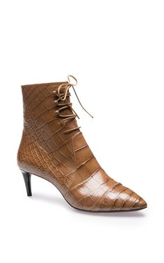 These **Bally** Carilin Ankle boots are rendered in crocodile and feature a side zip fastening, lace-up closure and logo debossed zip pull.
