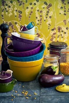 Poppyseed Creative Living: Colourful Friday - Purple and Mustard