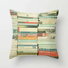 Literary Graphic Throw Pillows - The easiest way to change the look of a room is by changing throw pillows. Love this one!