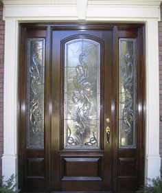 Beau Front Door Entry Systems | Estate Exterior Wood Front Entry Door Style  DbyD 1008