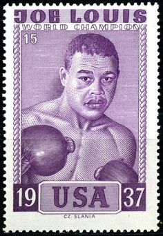 poster stamp - My Saves Joe Louis, Boxing Posters, Boxing History, Italian Artist, French Artists, Stamp Collecting, Postage Stamps, Black History, American History