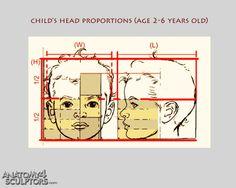 Children 2-6yo. head proportions