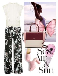 """""""Printed Pants"""" by carlina-tof ❤ liked on Polyvore featuring Nautica, M&Co, Kate Spade and Topshop"""