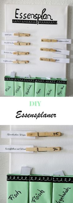 DIY Idee: Essensplaner selber machen + Video Anleitung Creative meal planner made by yourself Tinker food planner Diy Organizer, Diy Organization, Organizer Planner, Diy Crafts To Do At Home, Fun Crafts, Diy And Crafts, Diy Home Decor Rustic, Meal Planner, Planner Diy