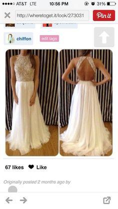 Dress: gold chiffon sequins dress prom, white prom dress, gold sequins, prom dress, chiffon - Wheretoget